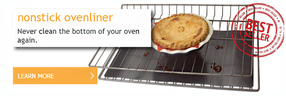 Chefs Planet Nonstick Ovenliner. Never clean the bottom of your oven again.