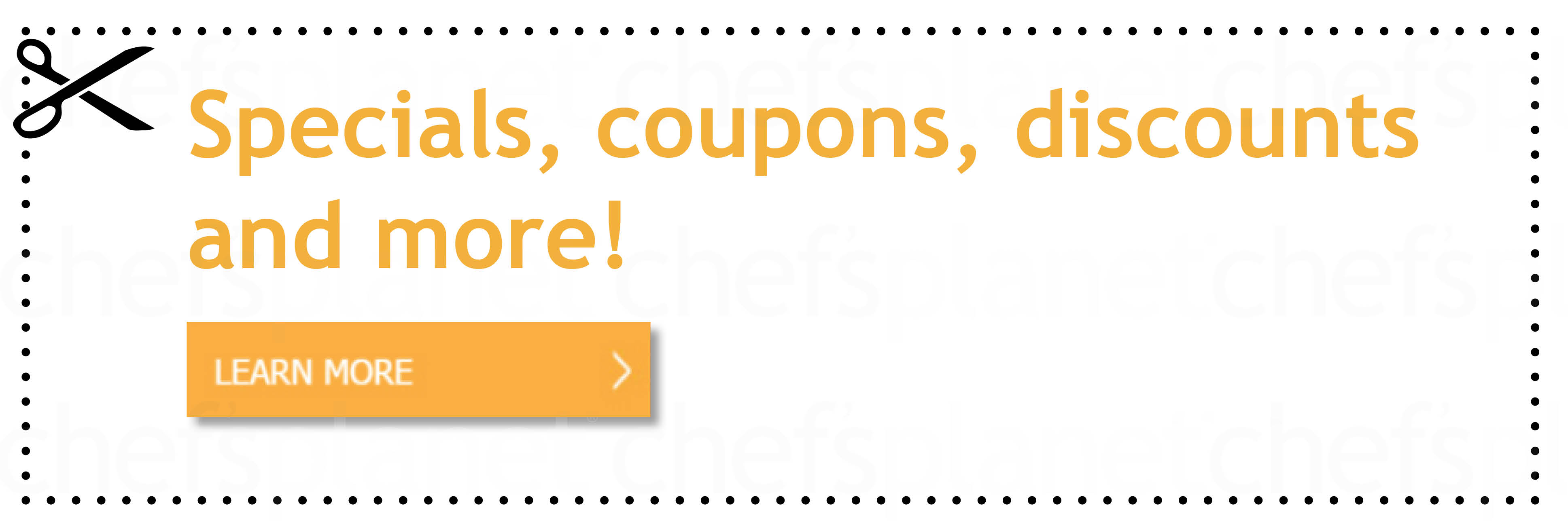 Chef\'s Planet Specials Offers Coupons Discounts Holiday