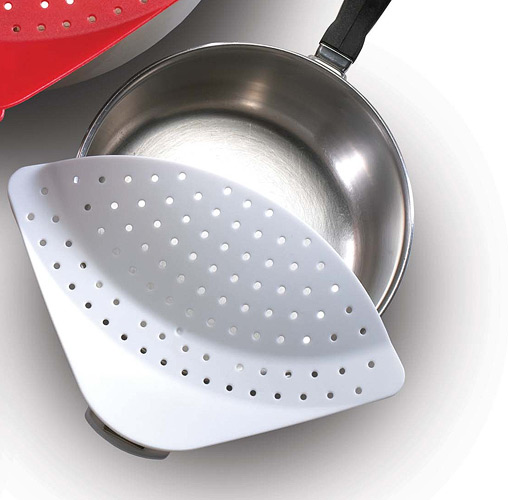 Chef's Planet Clip & Drain Press Room Colander Strainer